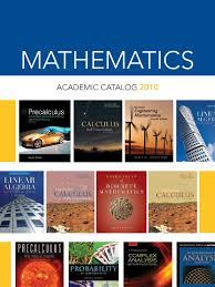 math catalog linear algebra matrix mathematics