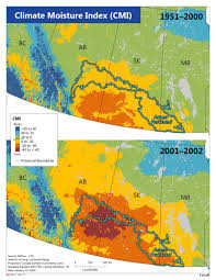 Canada Forest Fire Map by Drought Natural Resources Canada