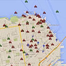 San Francisco Trolley Map San Francisco Parking Map Michigan Map