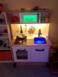 childrens play kitchen from old end table to adorable play
