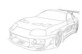 toyota supra coloring pages coloring