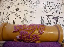pattern paint roller hand printed textiles pinterest