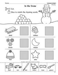 january preschool worksheets rhyming words pre and