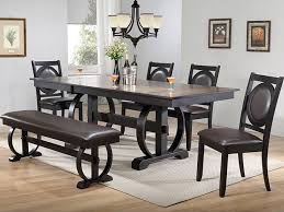 dining room table six chairs burnished oak dining table and six chairs bailey s furniture