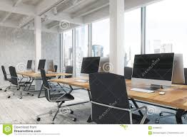 open office with pillars side stock illustration image 91886237