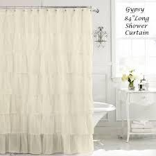 Ruffle Shower Curtain Uk - cream 84