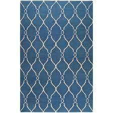 Flat Weave Runner Rugs Surya Rosenwald Blue 9 Ft X 13 Ft Flatweave Area Rug