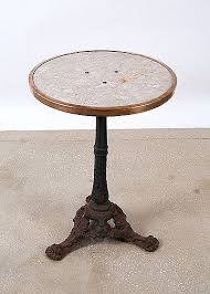 Wrought Iron Bistro Table Antique Marbletop Cast Iron Bistro Table Antique Tables