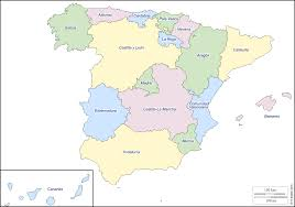 Asturias Spain Map by Spain Free Map Free Blank Map Free Outline Map Free Base Map