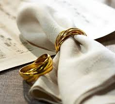 napkin ring ideas five golden rings napkin ring set of 4 pottery barn