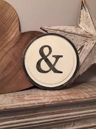 8 round letter ampersand sign monogram initial wall art home 8