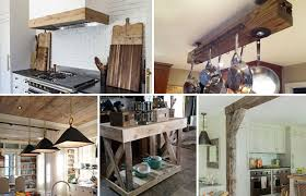 decorating with wood kitchen cabinets 15 diy kitchen decor projects done with reclaimed wood