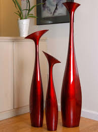 tall flower vase large in red black by hebi arts 17 home