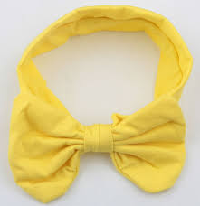 headband with bow new fashion kids solid cotton hair bow headband handmade