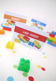 building bricks birthday party printables supplies birdsparty com