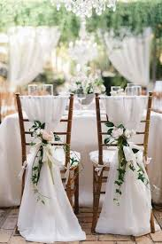 white wedding chairs 50 creative wedding chair decor with fabric and ribbons wedding