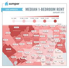 mapping the cheapest and most expensive places to rent in los