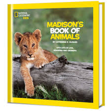 national geographic book of animals personalized book