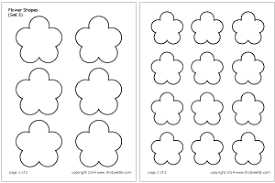flower shapes printable templates u0026 coloring pages