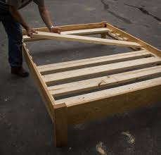 simple queen bed frame by luckysawdust lumberjocks com