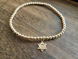 bracelet star images Jewish star beaded bracelet alef bet jewelry by paula jpg