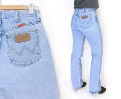 wrangler light blue jeans sz 9 10 long high waisted wrangler mom jeans 90s vintage