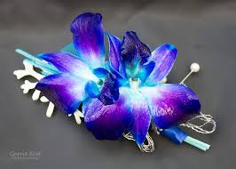 Blue Orchid Corsage Wedding Florals Photo Gallery