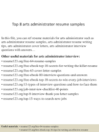 Best Network Administrator Resume by Top 8 Arts Administrator Resume Samples 1 638 Jpg Cb U003d1431467671