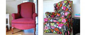 wing chair slipcover floral u2014 jen u0026 joes design wing chair slipcover