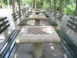 tables in central park chess checkers house in central park