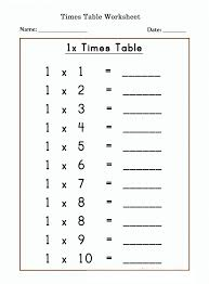 1 times tables worksheets activity shelter 1 times tables
