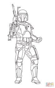 jango fett super coloring lineart star wars pinterest