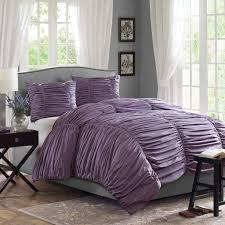 plum and grey bedding