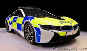 bmw car uk a bmw i8 promotional vehicle uk emergency vehicles