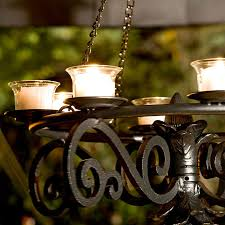 Gazebo Solar Chandelier Outdoor Lighting For Summer