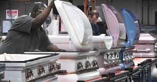 matthews casket company genesis casket brings gloss to staid business