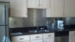 White Glass Metal Kitchen Backsplash Tile Home Improvement - Metal kitchen backsplash