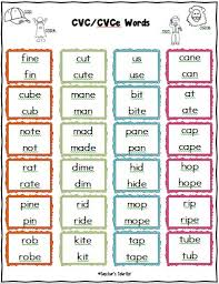pattern practice games freebie cvce list of words to practice short and long vowel sounds