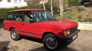 red land rover old range rover classic 1988 in the road youtube