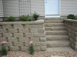 anchor retaining wall block and step units installed in rosemount