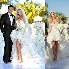 Celebrity Wedding Dresses Discount 2017 Hi Lo Celebrity Joanna Romain Wedding Dresses