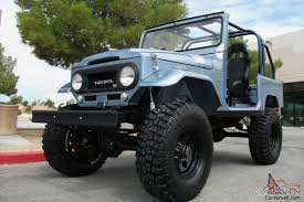 toyota cruiser lifted fj40 land cruiser body off restoration v8 4 speed show fj see video