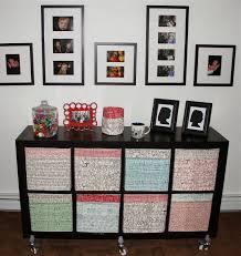 city house studio fabric covered ikea storage boxes