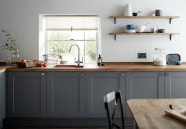 shaker style doors kitchen cabinets a slate grey shaker style door with a wood grained detail