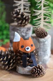 Felt Pinecone Fox Pinecone Felting And Foxes