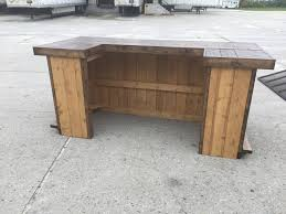 Rustic Reception Desk The 400 8 U0027 X 3 5 U0027 Rustic Finished Barnwood Or Pallet Style Bar