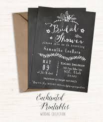 vintage bridal shower invitations chalkboard bridal shower invitation printable bridal shower