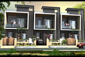 row house driverlayer search engine row house front elevation home design