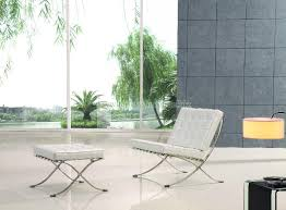 white leather barcelona chair manufacturer exporter supplier in