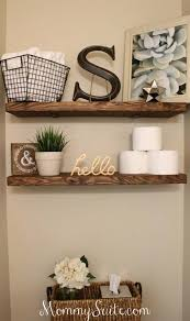 Wooden Shelf Design Ideas by Best 25 Decorating Bathroom Shelves Ideas On Pinterest Bathroom